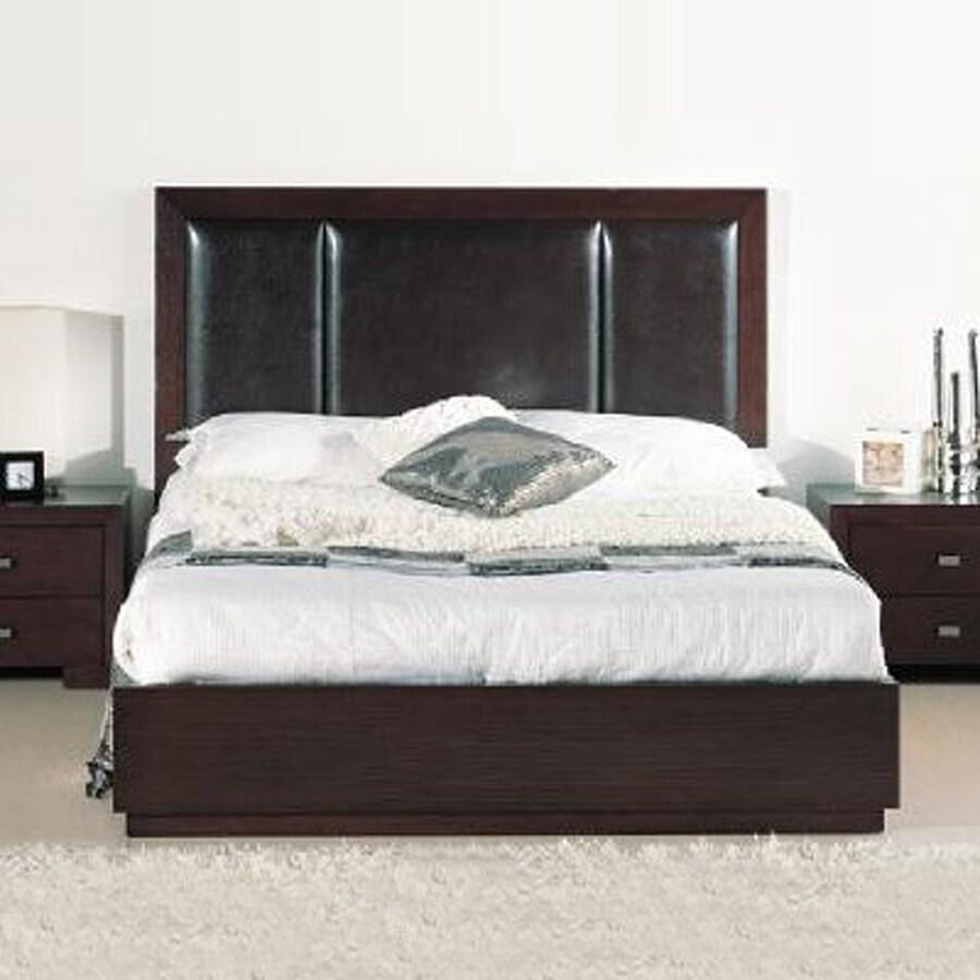 Beverly Hills Furniture Atlas Wenge Full Platform Bed with Storage