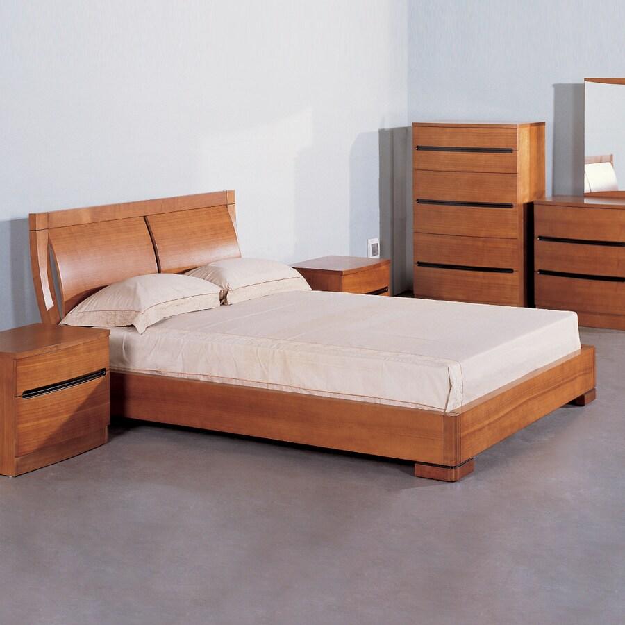 Beverly Hills Furniture Maya Teak King Platform Bed