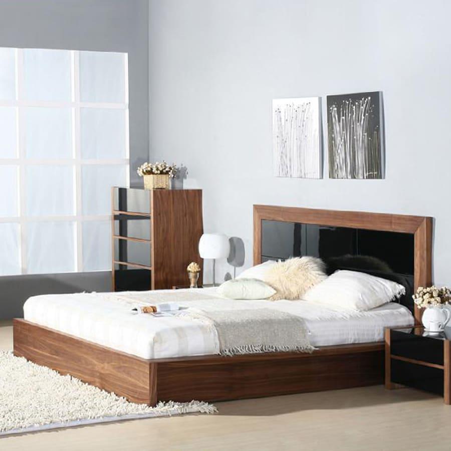 Beverly Hills Furniture Stark Walnut Queen Platform Bed