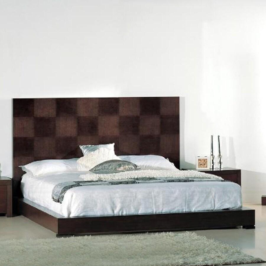 Beverly Hills Furniture Traxler Dark Walnut Queen Platform Bed