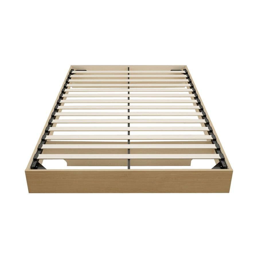 Nexera Nordik Natural Maple Queen Platform Bed