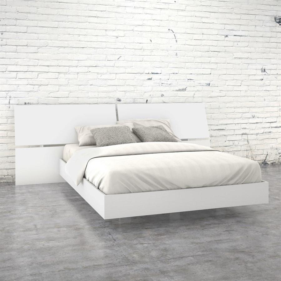 Nexera District/Melrose White Queen Platform Bed