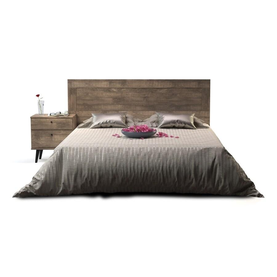 International Home Midtown Concept Madrid Distressed Brown Queen Platform Bed