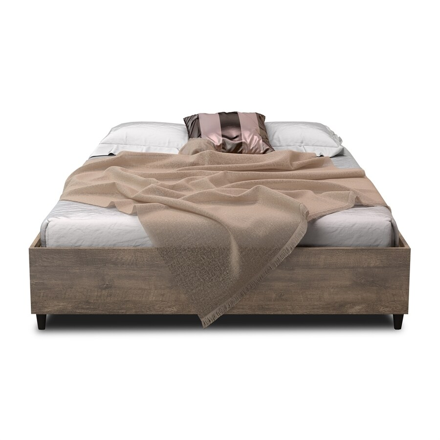 International Home Midtown Concept Madrid Distressed Brown Queen Platform Bed