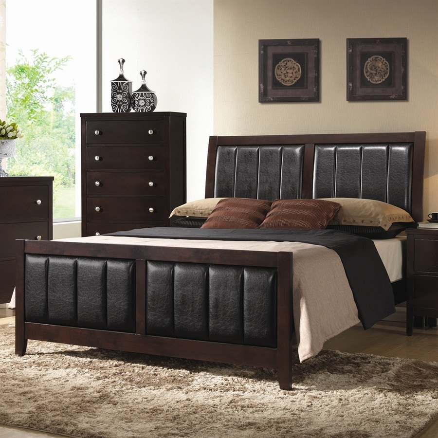 Coaster Fine Furniture Carlton Cappuccino Queen Upholstered Bed