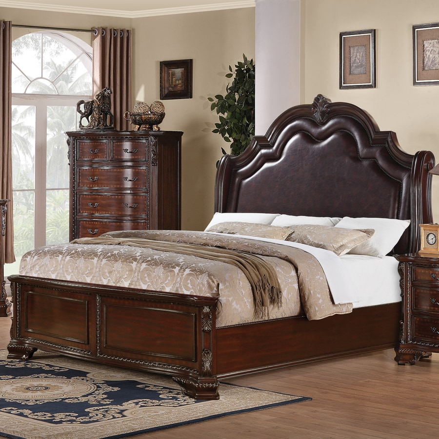 Coaster Fine Furniture Maddison Brown Cherry Queen Panel Bed