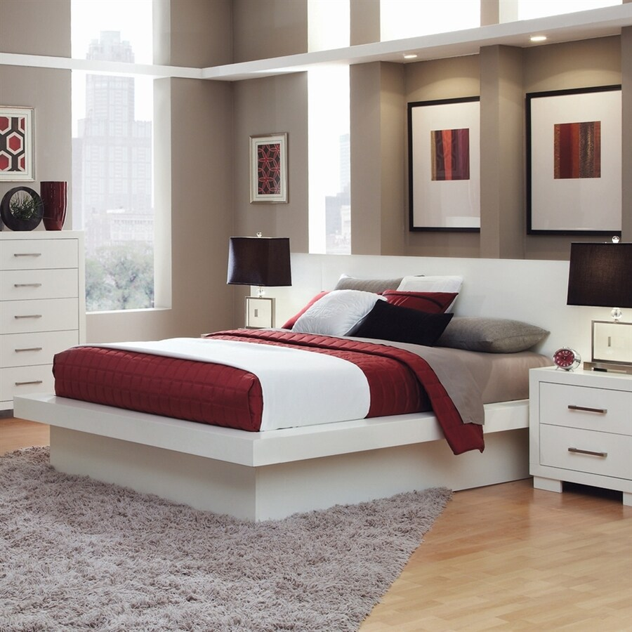 Coaster Fine Furniture Jessica White King Platform Bed
