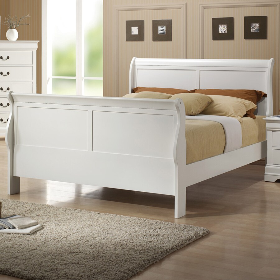 Coaster Fine Furniture Louis Philippe White Twin Sleigh Bed