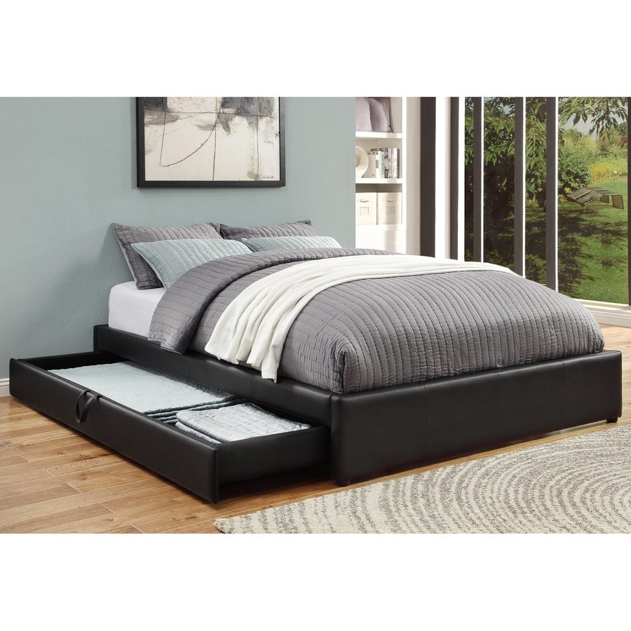 Coaster Fine Furniture Black Queen Upholstered Bed with Storage