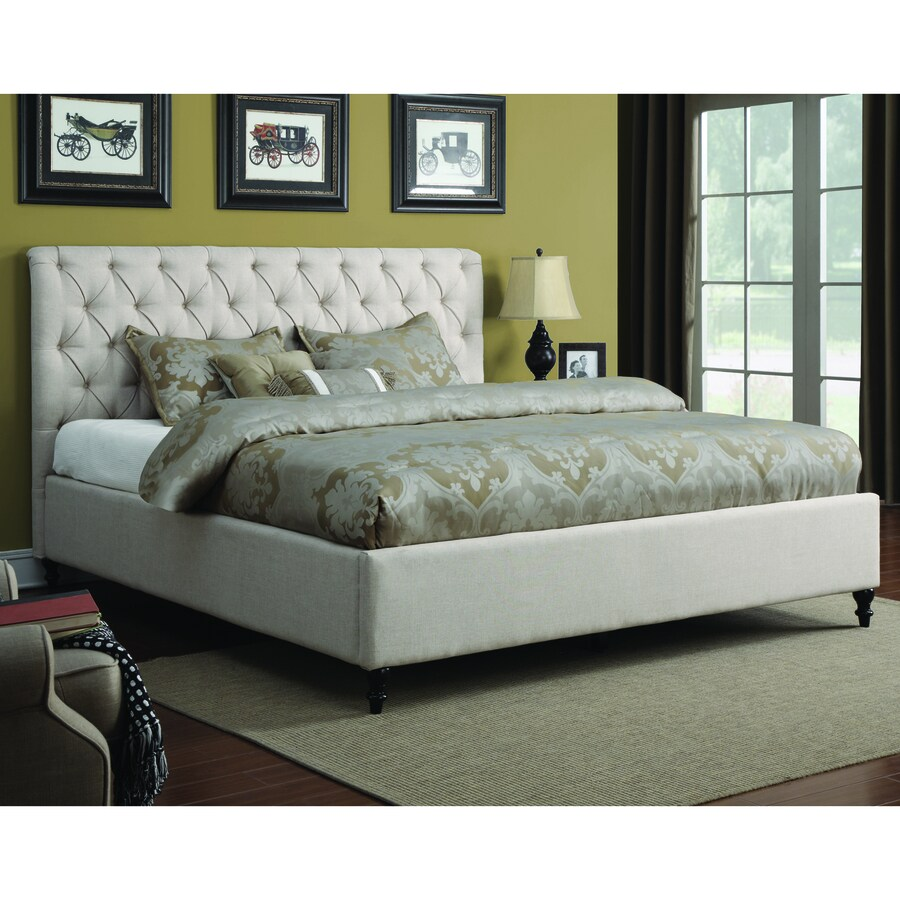 Coaster Fine Furniture Farrah Cream Queen Upholstered Bed