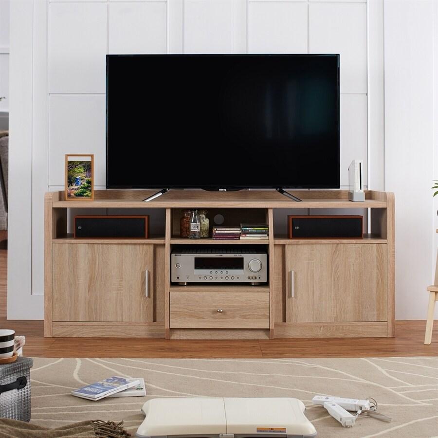 Enitial Lab Kolter Natural Oak Rectangular TV Cabinet
