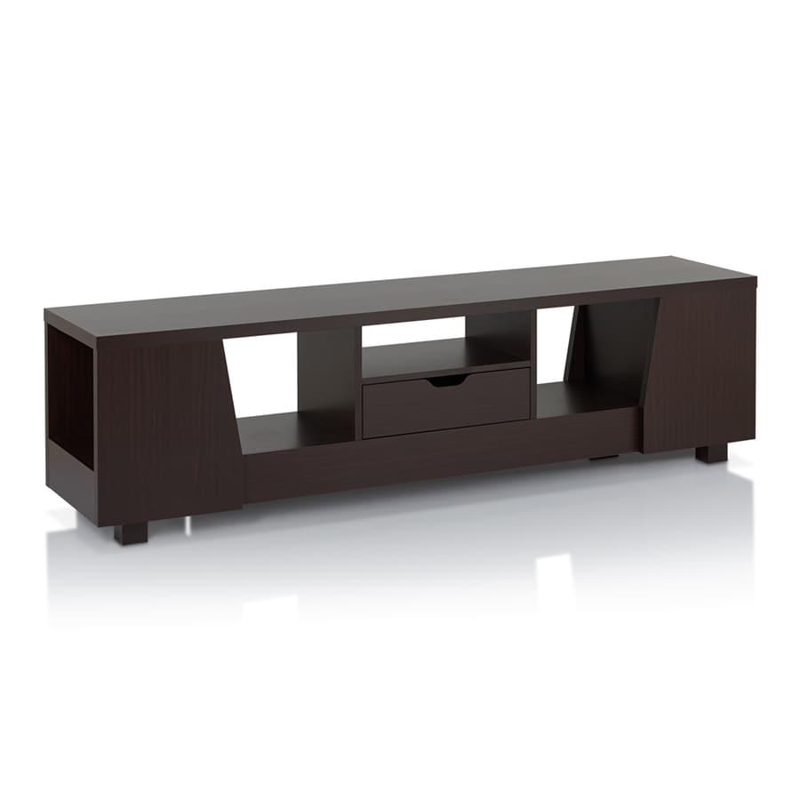 Enitial Lab Sabrina Walnut Rectangular TV Cabinet