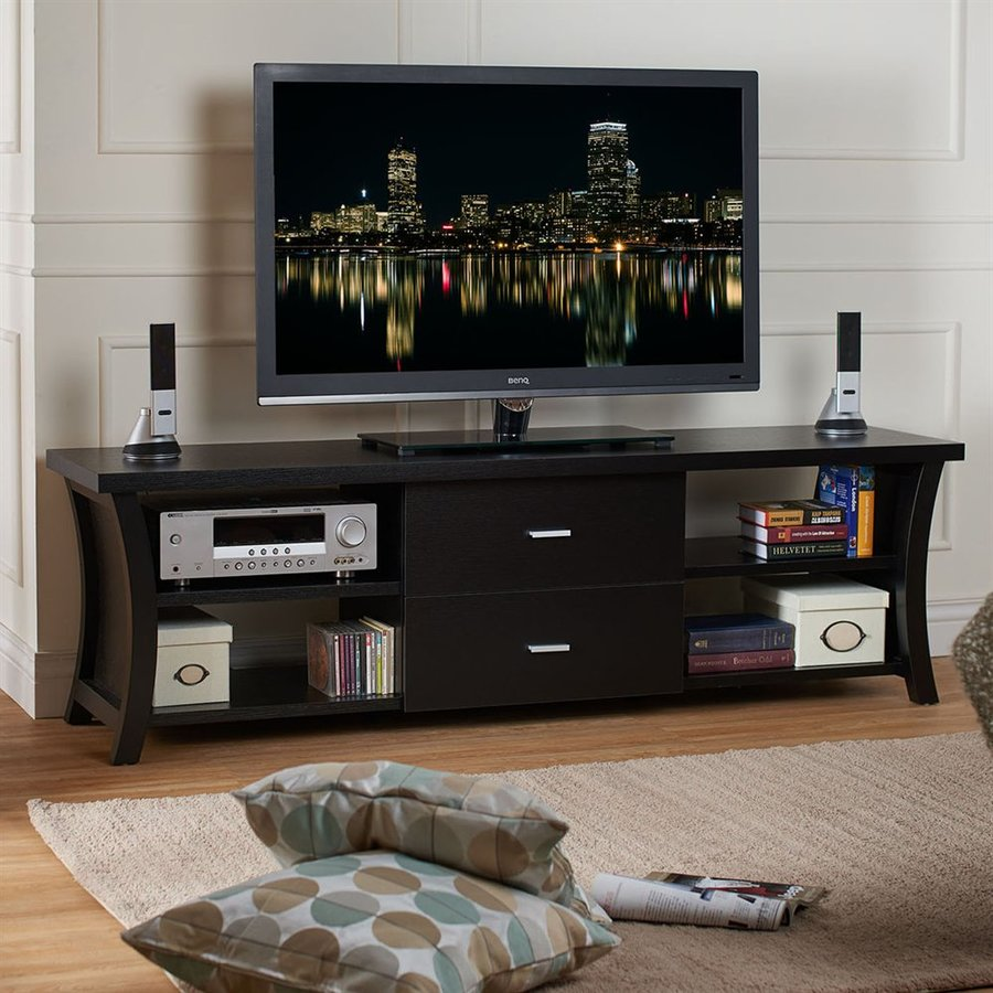 Enitial Lab Gaspian Black Rectangular TV Cabinet