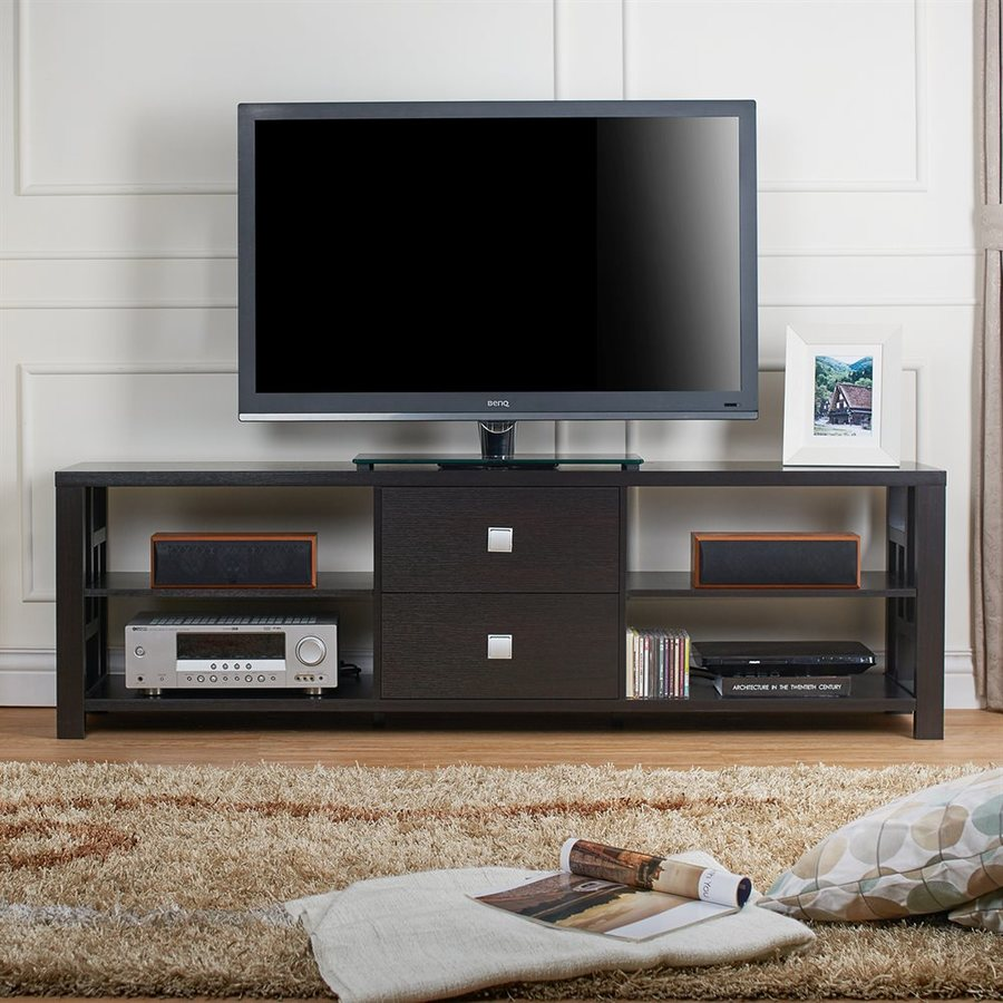 Enitial Lab Earvin Cappuccino Rectangular TV Cabinet