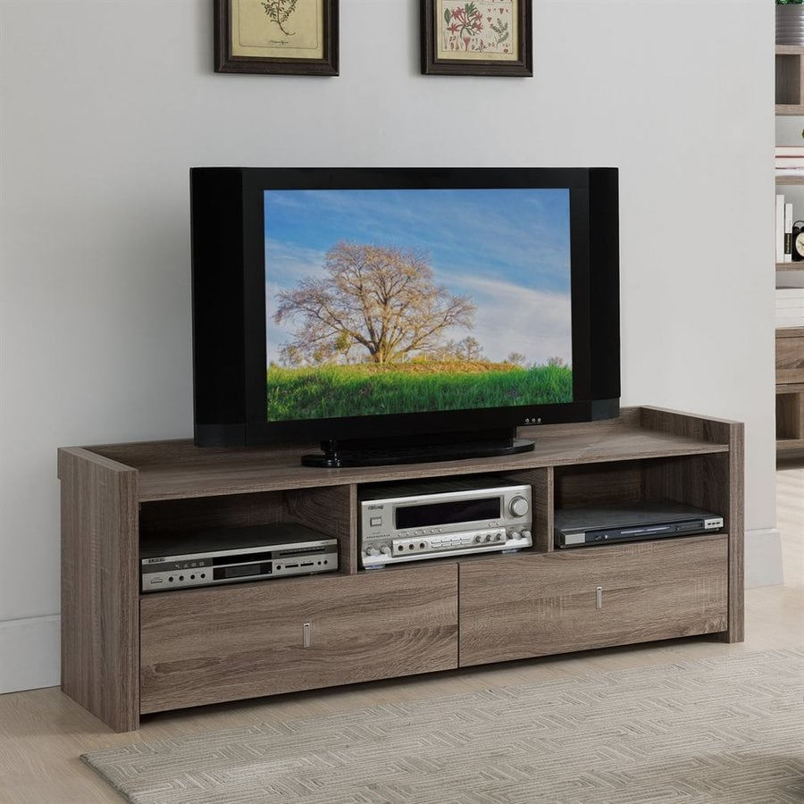 Enitial Lab Banner Light Oak Rectangular TV Cabinet