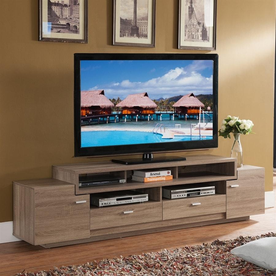 Enitial Lab Sulton Light Oak Rectangular TV Cabinet