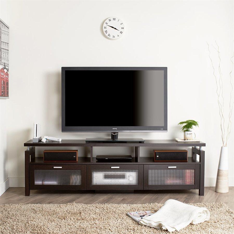Enitial Lab Rhoton Espresso Rectangular TV Cabinet