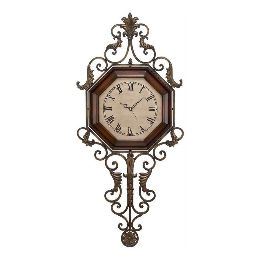 Aspire Home Accents Analog Novelty Indoor Wall Standard Clock