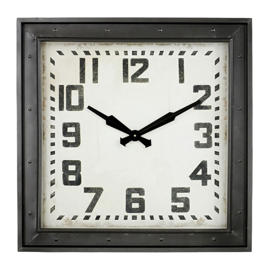 Aspire Home Accents Westford Analog Square Indoor Wall Standard Clock