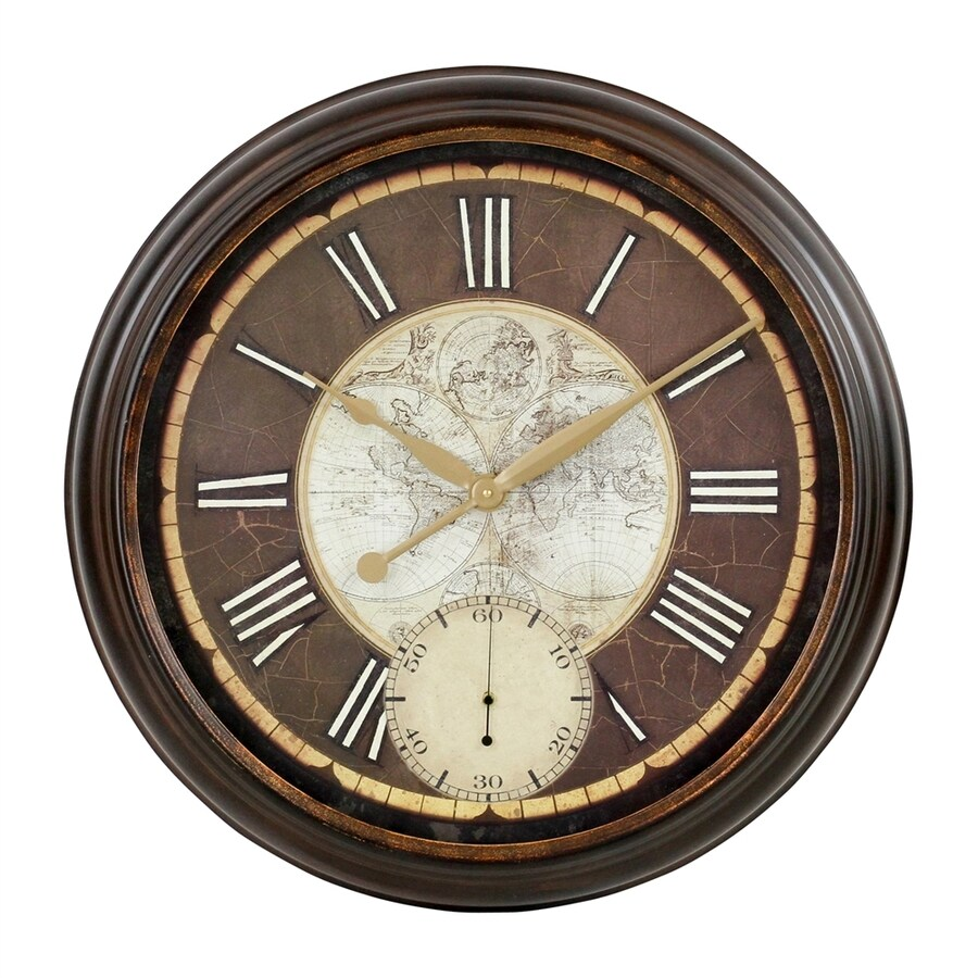 Aspire Home Accents Paloma Analog Round Indoor Wall Standard Clock