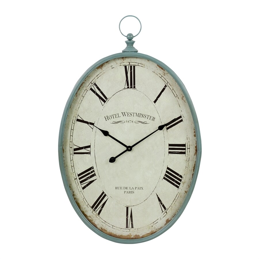 Aspire Home Accents Sonia Analog Oval Indoor Wall Standard Clock