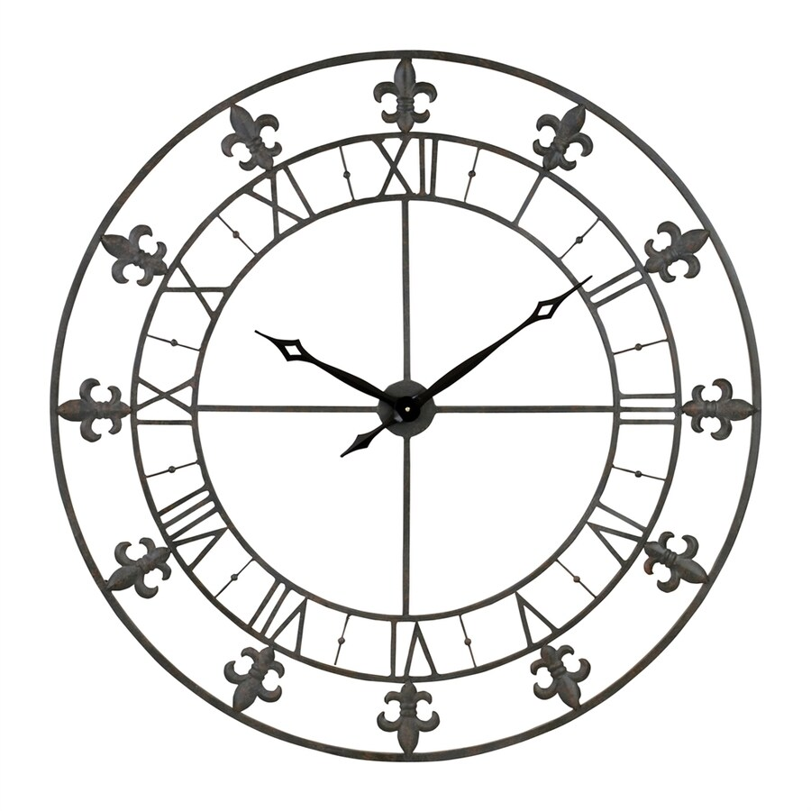 Aspire Home Accents Adelie Analog Round Indoor Wall Standard Clock