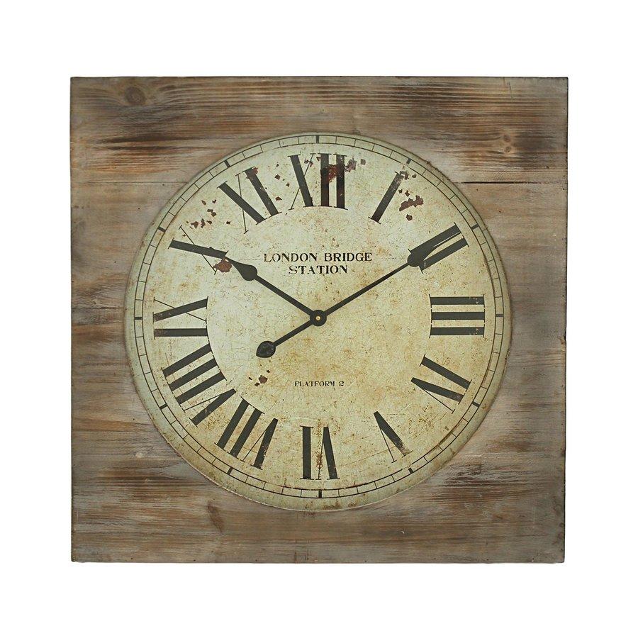 Aspire Home Accents London Bridge Analog Round Indoor Wall Standard Clock