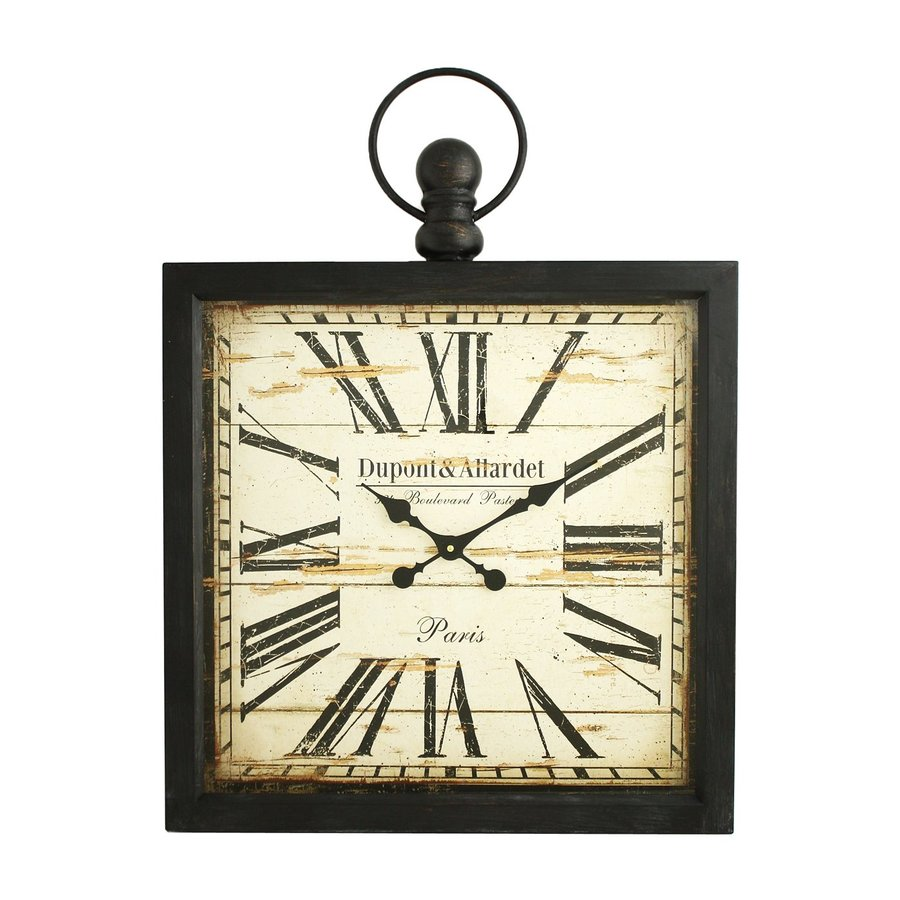 Aspire Home Accents Olivia Analog Square Indoor Wall Standard Clock