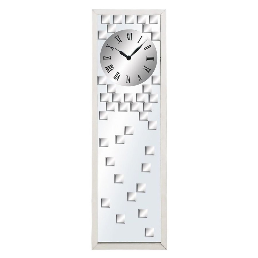 Aspire Home Accents Modern Analog Rectangle Indoor Wall Standard Clock
