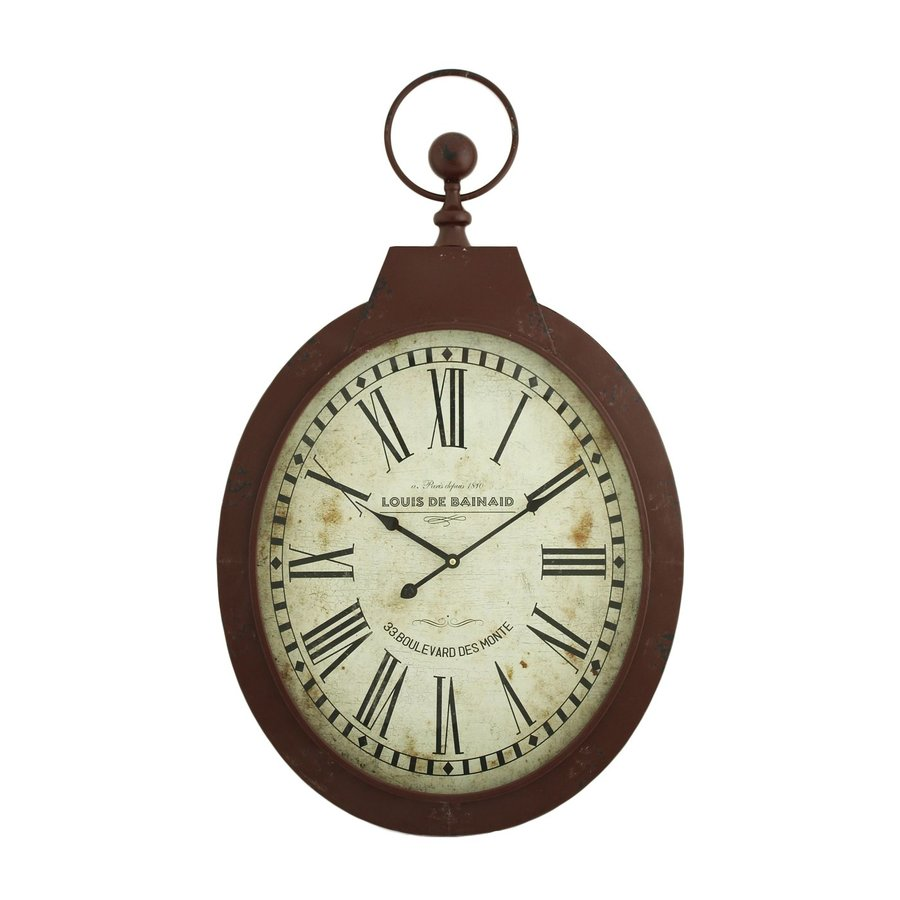Aspire Home Accents Louis Analog Oval Indoor Wall Standard Clock