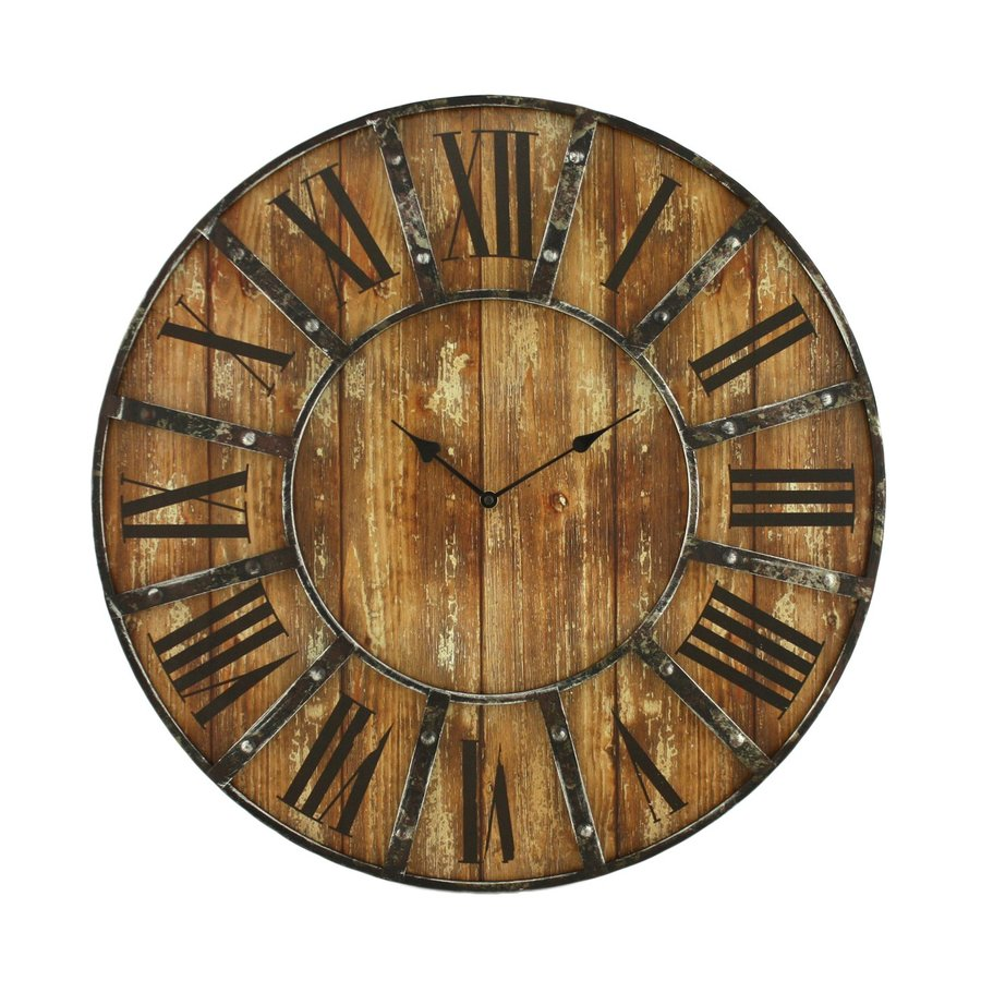 Aspire Home Accents Edmonson Analog Round Wall Standard Clock