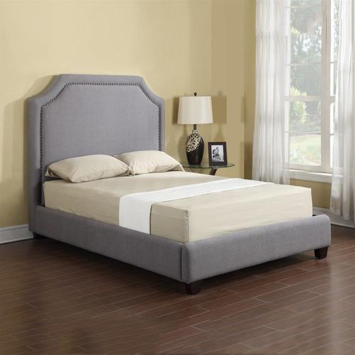 London Grey Queen Upholstered Bed