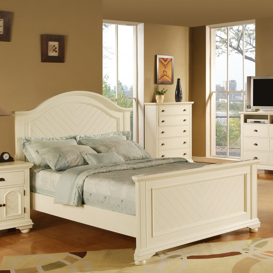 Picket House Furnishings Belmor White Queen Panel Bed