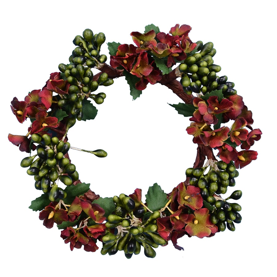 fantastic craft paper berries candle ring - Decorative Christmas Candle Rings