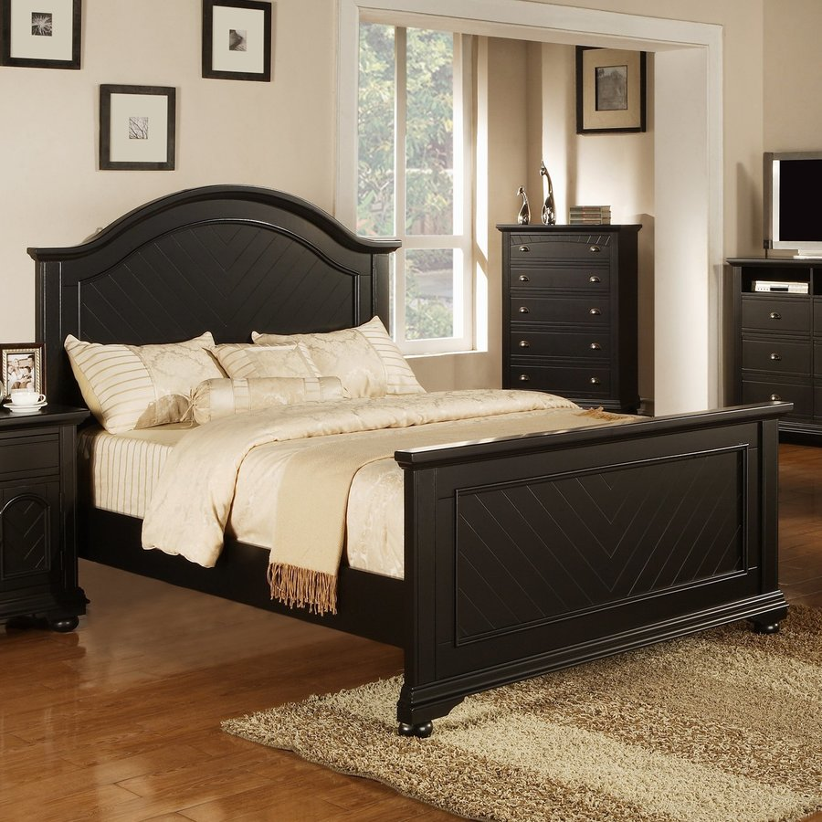 Picket House Furnishings Belmor Black Queen Panel Bed