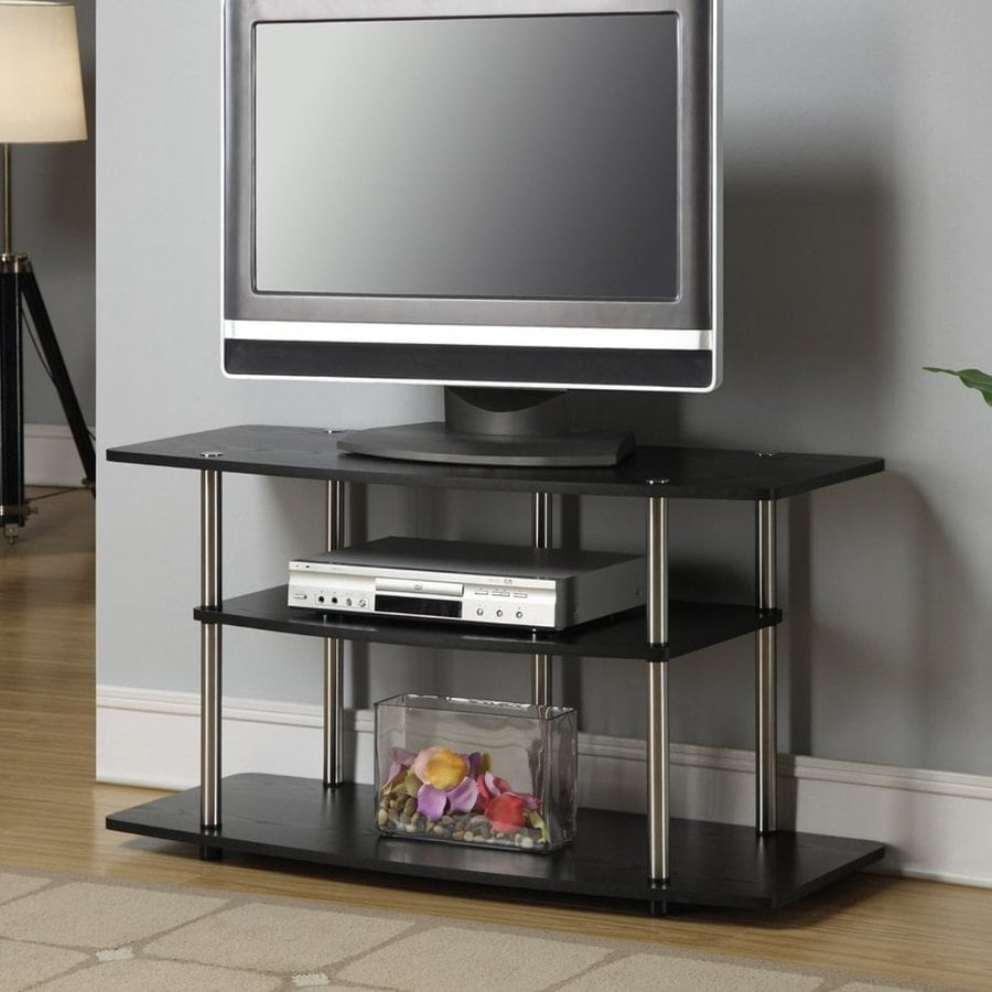 Convenience Concepts Designs2Go Black Rectangular TV Cabinet