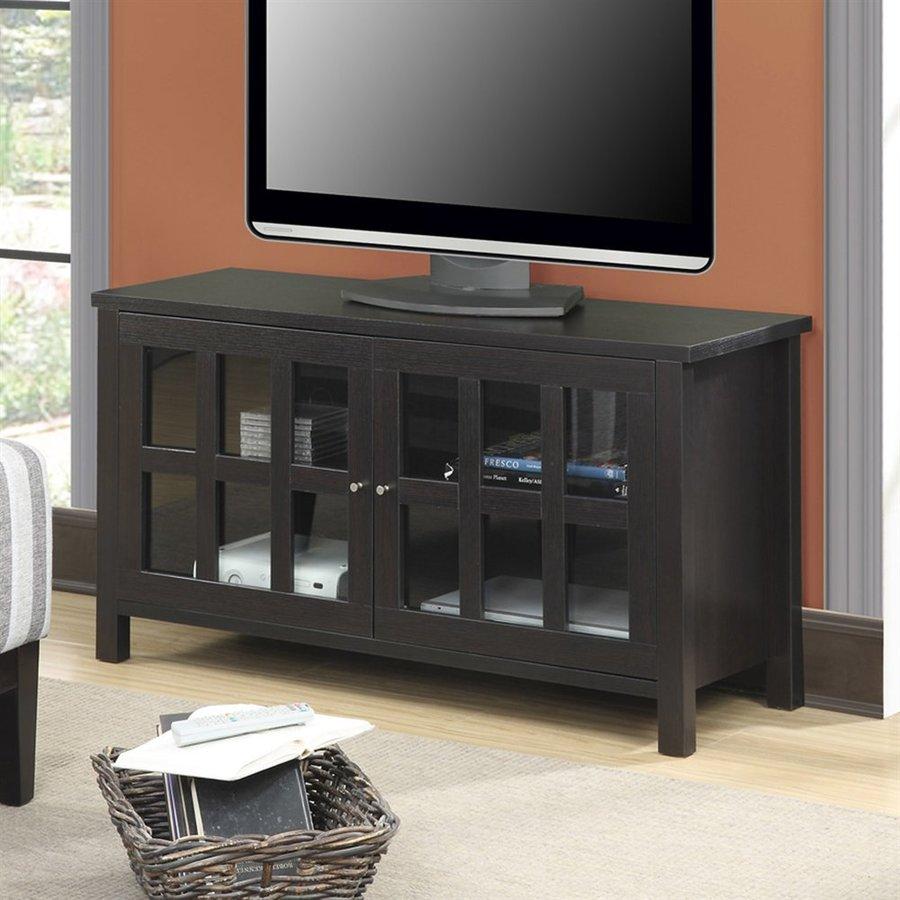 Convenience Concepts Newport Espresso Rectangular TV Cabinet