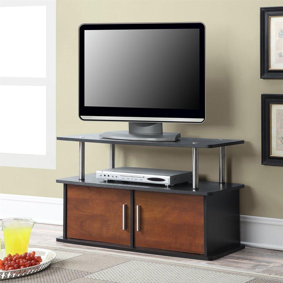 Convenience Concepts Designs2Go Black/Cherry Rectangular TV Cabinet