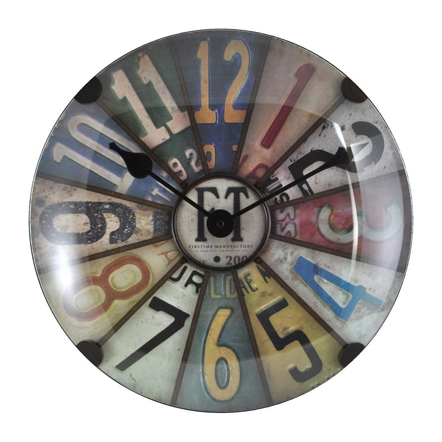 FirsTime Manufactory Axel Dome Analog Round Indoor Wall Standard Clock