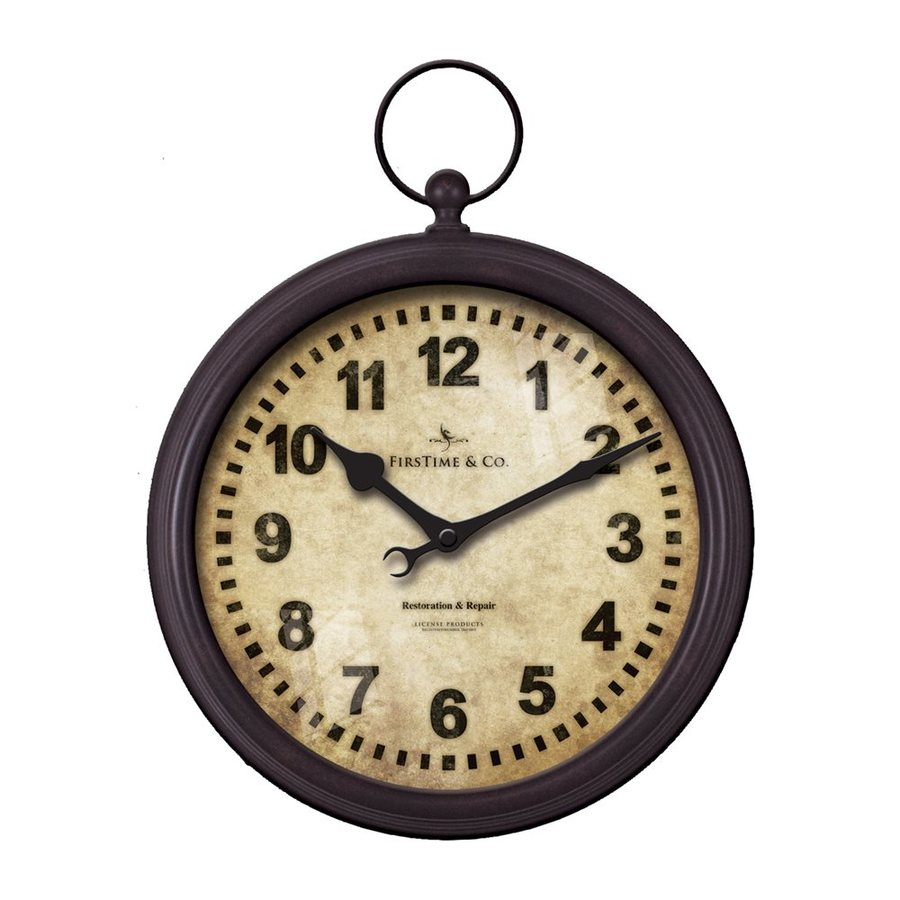FirsTime Manufactory Pocket Watch Analog Round Indoor Wall Standard Clock
