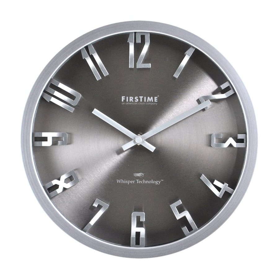 FirsTime Manufactory Steel Dimension Analog Round Indoor Wall Standard Clock