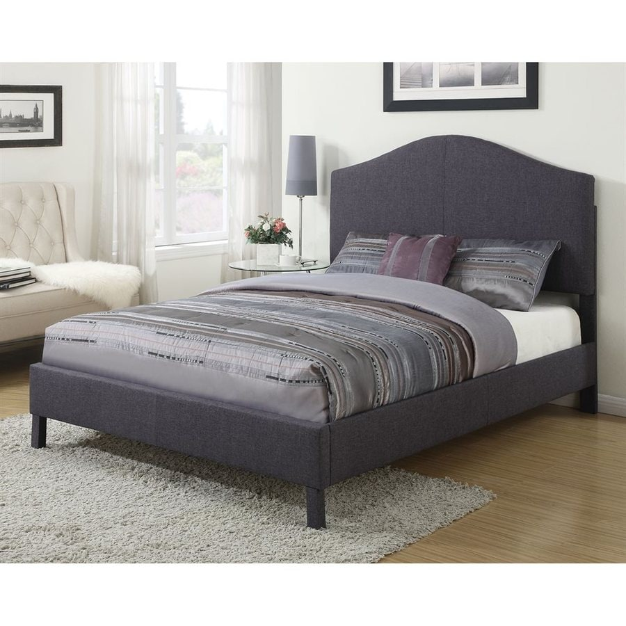 Acme furniture clive gray queen platform bed