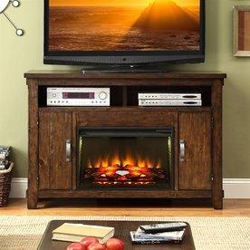 legends furniture 56in w 4600btu rustic walnut wood fanforced electric