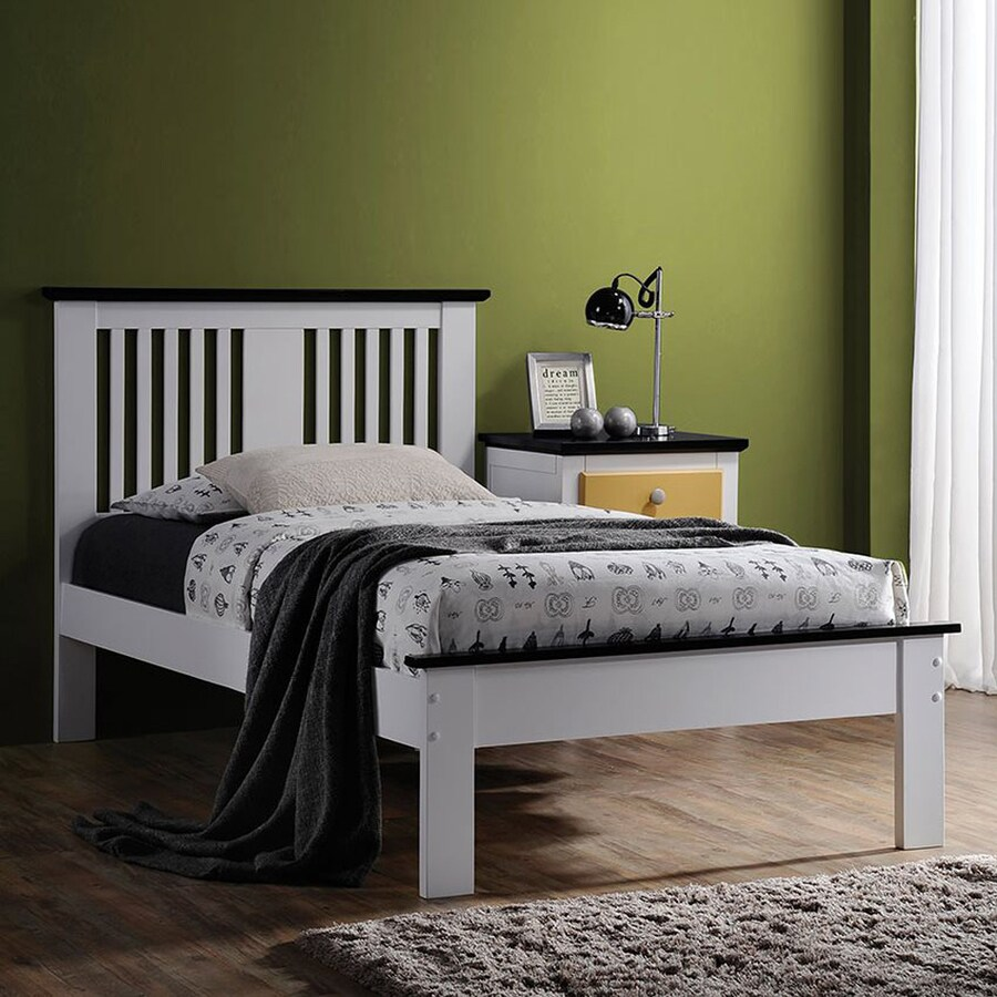 ACME Furniture Brooklet White/Black Twin Platform Bed
