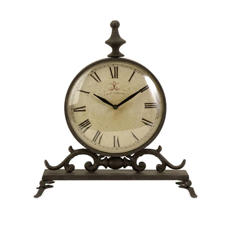 Imax Worldwide Eilard Analog Round Indoor Mantel Clock