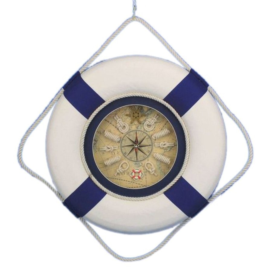 Handcrafted Nautical Decor Life-Ring Analog Novelty Indoor Wall Clock
