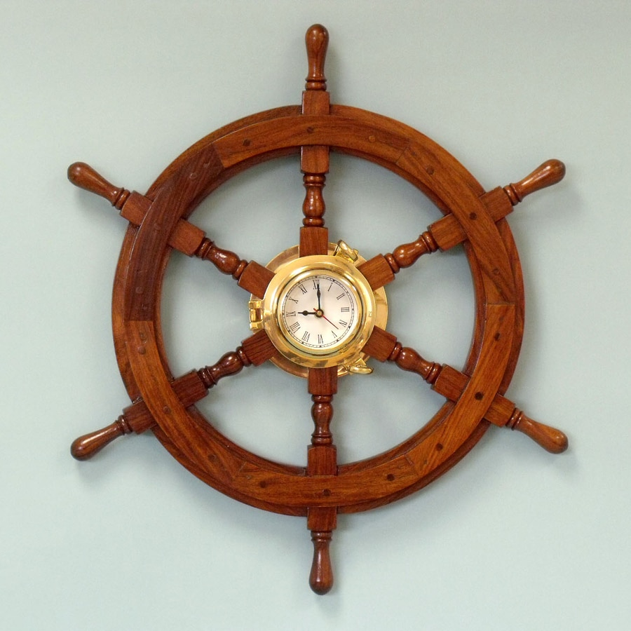 Handcrafted Nautical Decor Analog Novelty Indoor/Outdoor Wall Clock