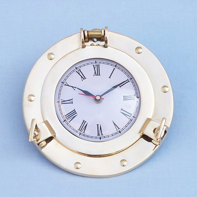 Handcrafted Nautical Decor Porthole Analog Novelty Indoor Wall Clock In The Clocks Department At Lowes Com