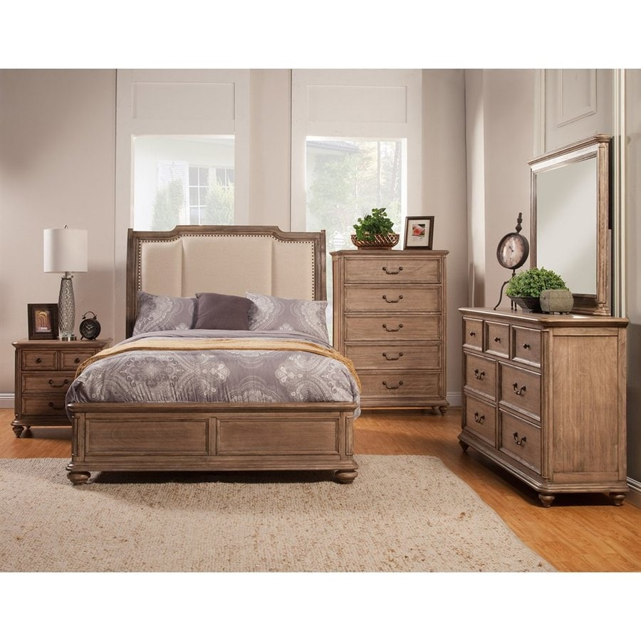 Alpine Furniture Melbourne French Truffle California King Sleigh Bed