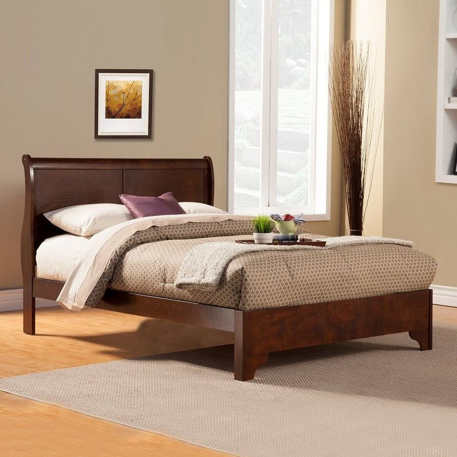 Alpine Furniture West Haven Cappuccino Twin Platform Bed